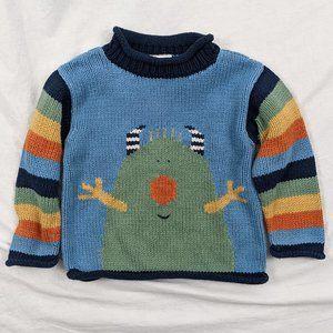Mulberibush Striped Monster Sweater Sz 24mths